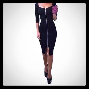 Sexy zipper dress, JUST REDUCED! Wear two ways!